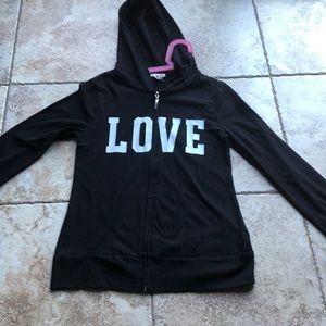 Girls black LOVE sweater size 12
